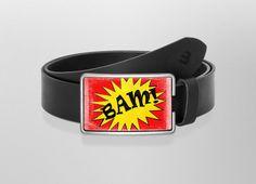 Belt BAM! - Grunge | Wechselwild Belt with interchangeable design  #belt #buckle #guertel #lederguertel #guertelschnalle #leder #leatherbelt #leather #bam #comic #explosion #illustration #goodcoffee