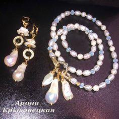 #ручнаяработа #жемчуг #опалит #жемчугКеши #жемчугБива #жемчугБарочный #фурнитура18К  #трансформер #браслет # #мода #фаворит #эксклюзив  #дизайнерскиеукрашения #arina.valente Pearl Jewelry, Pearl Necklace, Jewellery, Pearls, Photo And Video, Instagram, Cute Bracelets, String Of Pearls, Jewels