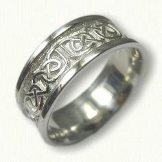 Celtic Foxcroft Knot Wedding Band  Shown- Sterling Silver Available In All Metals and Sizes