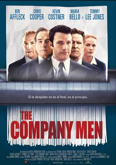 The company men Dirigida por John Wells. Tommy Lee Jones, Movie Pi, Film Movie, Ben Affleck, Wells, Rosemarie Dewitt, Roger Deakins, Drama Gif, Kevin Costner