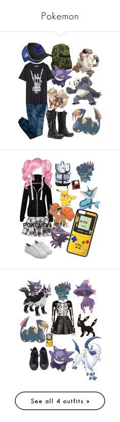 """Pokemon"" by rilakkuma394 on Polyvore featuring Replay, CellPowerCases, BCBGeneration, Disney, York Wallcoverings, WearAll, Mairi Mcdonald, Bakers, American Eagle Outfitters and White House Black Market"