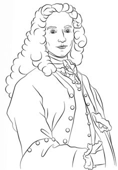 voltaire coloring page