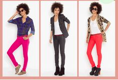 OMG I DIE, reversible skinny jeans, the red is perfect for winter and spring - darker side for winter, lighter side when springs come...I NEED THESE