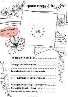 Kindergarten Portfolio, Bullet Journal Free Printables, Creative Crafts, Art School, Mom And Dad, Diy For Kids, Lettering, Education, Diy Presents