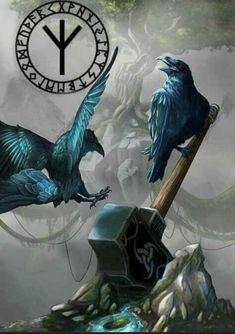 Odin's ravens, Huginn and Muninn aka Thought and Memory.