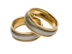 Anillo de #matrimonio de oro blanco y amarillo