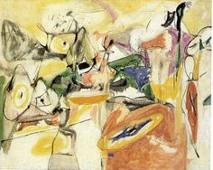 Arshile Gorky - Cornfield of Health II, 1944 [Abstract Expressionism] ... he's almost like a cross-over of surrealist cubism and abstract expressionism. Most of his work isn't like this one, but I really like this piece.