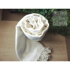 White cotton scarf - beyond soft and smooth