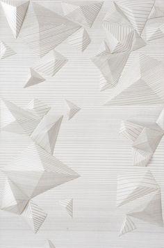 3D Wallpaper, Tracey Tubb, Silk-screen print on paper