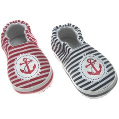 Cute Baby Boys Cotton Striped Sailor Slip on Shoes - Mothers R Us - buy from mothersrus.com