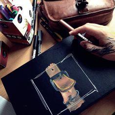 #ikea #poscamarker #gustileder #lederriemen #artwork #fanoona #zeichnung #leder #lederplege #drawing #realistisch