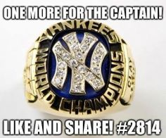 Derek Jeter ~ Let's get one more for the Captain and make it 28!