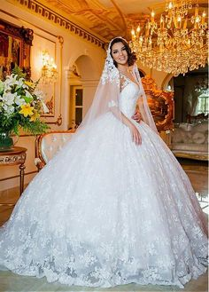 a4bc3031ea3d Magbridal Fabulous Tulle   Lace Sheer Jewel Neckline Ball Gown Wedding  Dresses With Lace Appliques   Beadings. Abito Da Sposa ...