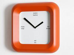 diamantini + domeniconi: #orange mount square clock