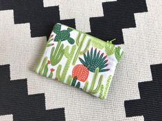 Cactus Mini Zipper Pouch - Cactus Gifts - Diaper Bag Pouch - Zip Pouch - Padded Oil Pouch- Cosmetic Pouch - Cactus Bag- Cactus Coin Purse by MBandCo on Etsy