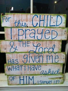 Pallet Art - Bible Verse- Child