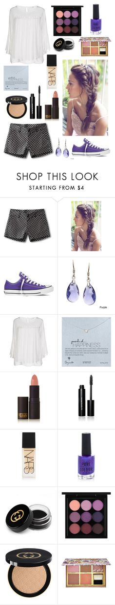 """""""#32"""" by summeer2018 ❤ liked on Polyvore featuring Kavu, Converse, La Preciosa, ONLY, Dogeared, Lipstick Queen, Bobbi Brown Cosmetics, NARS Cosmetics, New Look and Gucci"""