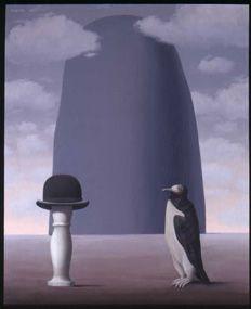 """""""L'exposition de peinture"""", 1965, huile sur toile 80x65 ~ René MAGRITTE"""