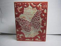 This card was made by Sharon Frees.  I used all MB dies.  This could be Valentines or Wedding card.