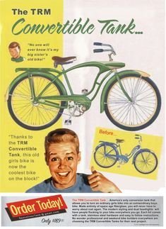 Click this image to show the full-size version. Velo Vintage, Vintage Bicycles, Vintage Ads, Old Bicycle, Old Bikes, Bicycle News, Retro Advertising, Vintage Advertisements, Family Day Quotes