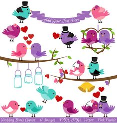 Hey, I found this really awesome Etsy listing at https://www.etsy.com/listing/154925229/wedding-birds-clipart-clip-art-valentine