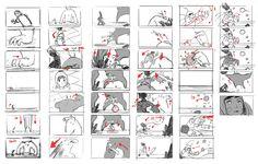 Board by Oussama Bouacheria, storyboard artist for 'Kairos'