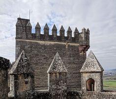 The tower of the Castillo de Almodovar del Rio. Andalusia, Spain.
