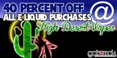 High Desert Vapes E-liquid Sale (40% Off) | gotsmok.com