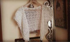 Crochet bolero cardi. Handmade 100%cotton
