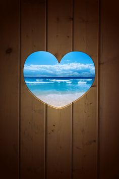 Find images and videos about summer, blue and beach on We Heart It - the app to get lost in what you love. I Love The Beach, My Love, Heart In Nature, I Love Heart, Happy Heart, Ocean Beach, Ocean Waves, Belle Photo, Heart Shapes