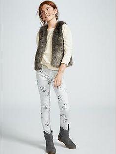 Faux-Fur Vest for Girls | Old Navy- size L