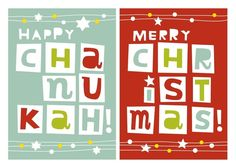 Do you celebrate Christmas and Hanukkah? Twice the Fun - Hanukkah Greeting Cards in Winterberry | Hallmark