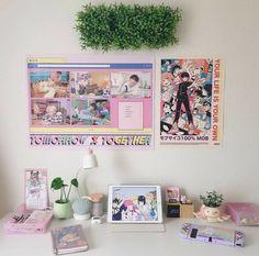 Study Room Decor, Room Ideas Bedroom, Bedroom Decor, Pinterest Room Decor, Pastel Room, Kawaii Room, College Room, Minimalist Room, Aesthetic Bedroom