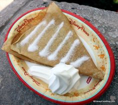 Ice Cream Crepes in #Epcot's France Pavilion -- #DisneyWorld!