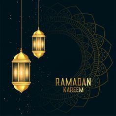 Golden ramadan kareen festival card with lanterns vector Cherry Blossom Background, Pink And White Background, Golden Background, Leaf Background, Eid Mubarak Wallpaper, Eid Card Designs, Ramadan Background, Tuscan Style Homes, Gold Lanterns