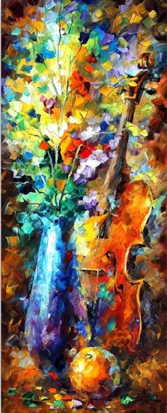 cuadros-de-flores-pintados-con-espatula