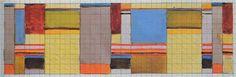 Design for a double-weave textile Bauhaus Dessau 8.6x24 cm ca.1926 Misawa Homes Bauhaus Collection, Tokyo