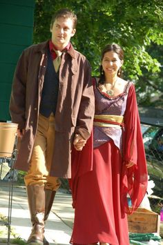 Awesome Firefly wedding outfits.