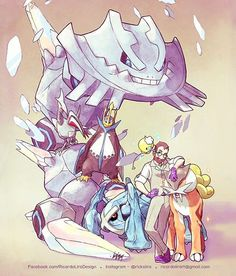 by Ricardo Lira ( Pokemon Oc, Pokemon Fan Art, Cool Pokemon, Cool Anime Pictures, Pokemon Pictures, Pokemon Trainer Outfits, Character Concept, Character Design, Pikachu