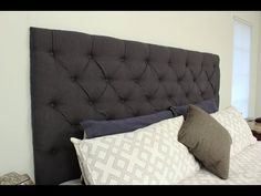 Start to finish to make your own upholstered, tufted-style headboard. For more information on how we made this, check out my blog here: http://checkinginwith...