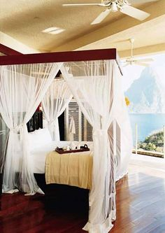 Morning service at St. Lucia's Jade Mountain resort