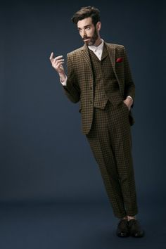 Three Piece Tweed Suit in Lovat Mill Teviot Cloth. Men's fashion and style