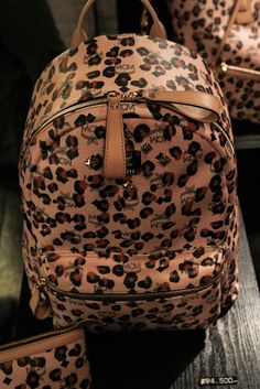 Just got a leopard print backpack! Animal Print Fashion, Fashion Prints, Mcm Bags, Purses And Bags, Cheetah Print, Leopard Prints, Animal Prints, Leopard Bag, Snow Leopard