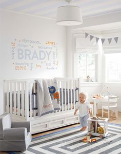 Like the wall ------ Boy Nursery Idea 2 | Pottery Barn Kids