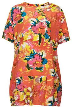 Tropical Print Pleated Dress by Boutique