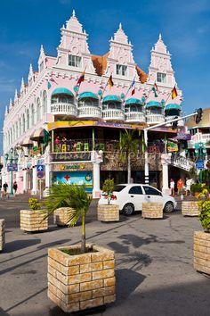 Royal Plaza on main street in Oranjestad, Aruba, Netherlands Antilles, #Caribbean.