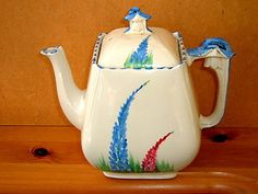 Burleigh Ware Art Deco China Tea Pot.Imperial 11516 | eBay