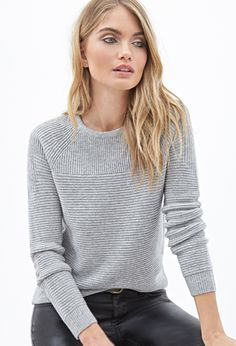 Ribbed Crew Neck Sweater | FOREVER 21 - 2000083792