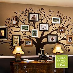 Family Tree Wall Decal by Simple Shapes (Chestnut Brown, Standard Size: 107w x 90h Inch)