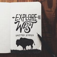 coldwindandiron: rainydaysandblankets: steelbison: Day 1 of the using my new Field Notes order. #FieldNotes #bison #art so awesome. if this ever becomes a print, i call dibs on buying the first copy. Skills.